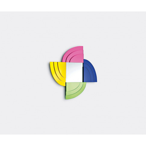 Glas Italia Mirrors And Clocks - 'Dioniso 5' Mirror In Multicolour Glass