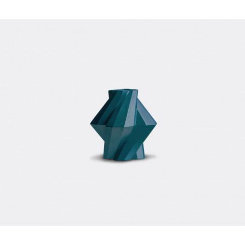 Bohinc Studio Vases - 'Fortress Pillar' Vase In Petrol Blue Ceramics