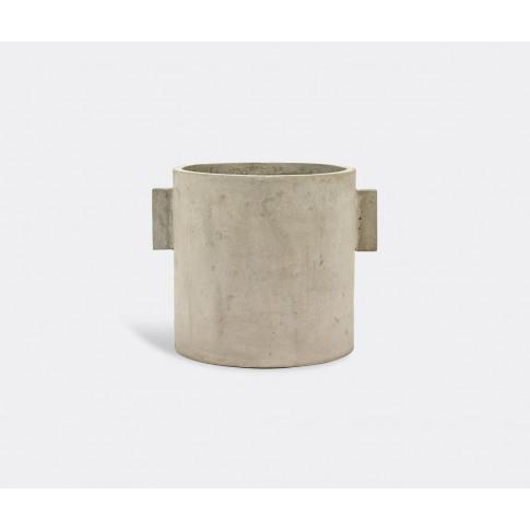 Serax Vases - 'Pot', Grey, Medium In Grey Concrete