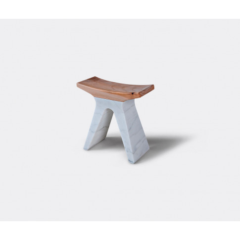 Luce Di Carrara Seating - 'Pigreco' Stool In White, ...