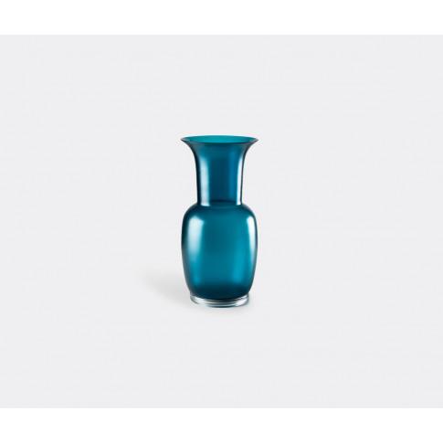 Venini Vases - 'Opalino Satin' Vase, L, Horizon In B...