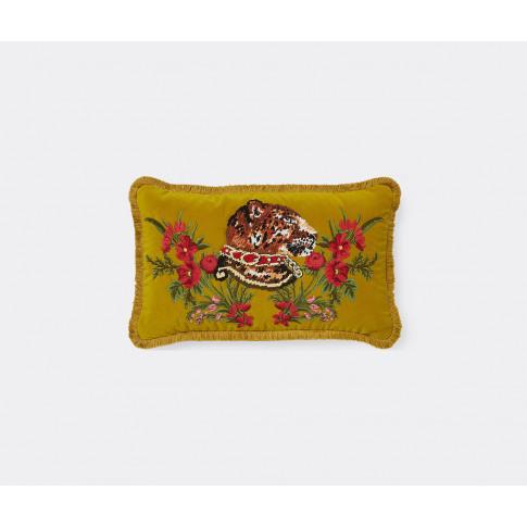 Gucci Textile And Wallpaper - 'Leopard' Velvet Cushi...