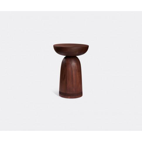 Zanat Seating - 'Nera' Stool, Walnut In Walnut Oil W...