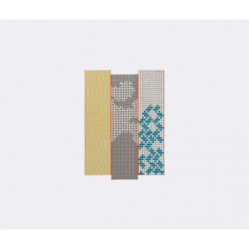 Gan Rugs - 'Bandas C Turquoise' Runner In Multicolor...