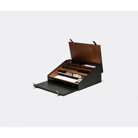 Pineider Travel And Luggage - 'Travel' Desk Set In B...