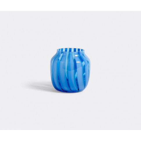 Hay Vases - 'Juice' Wide Vase, Blue In Light Blue Glass