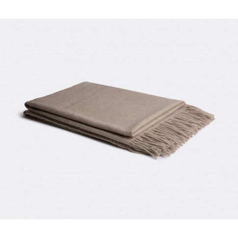 Oyuna Textile And Rugs - 'Uno' Throw In Taupe Cashme...