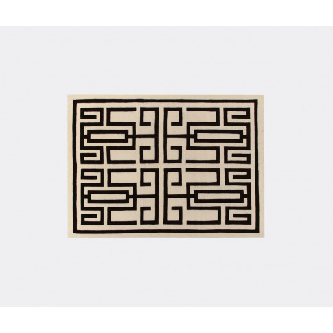 Amini Carpets Textile and Rugs - 'Labrinto' rug, bla...