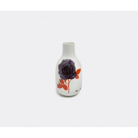 Krehky Gallery Vases - 'Our Flora Roses' Vase In White, Multicolour Porcelain