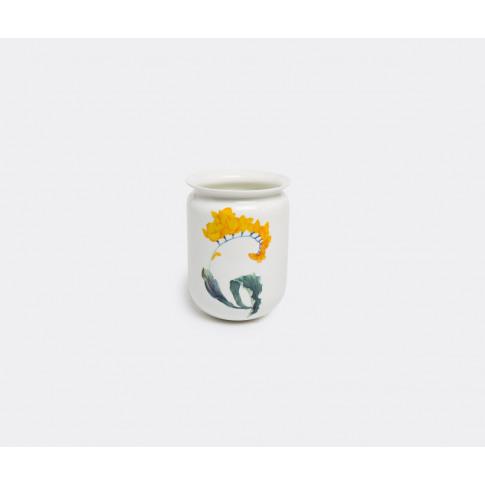 Krehky Gallery Vases - 'Our Flora Tulip' Vase In White, Multicolour Porcelain
