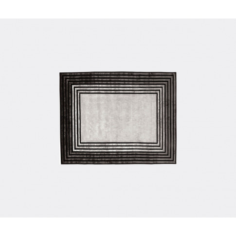 Illulian Rugs - 'Seven' Rug In Grey Wool, Silk