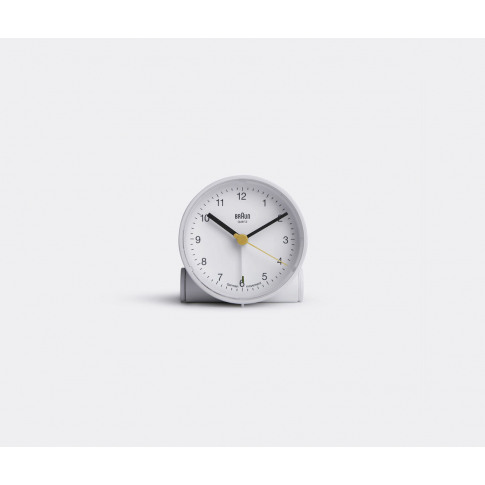 Braun Technology - 'Analog' Alarm Clock In White Pla...
