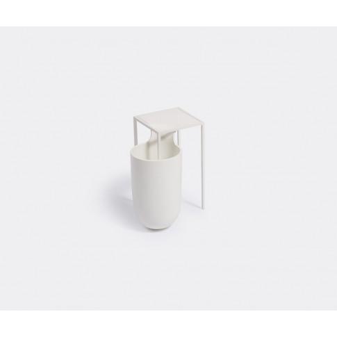 Alias Vases - 'Flow Bowl' Vase, Medium In White Stee...