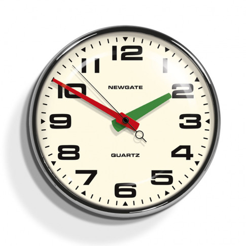 Newgate Clocks - Brixton Clock - Chrome