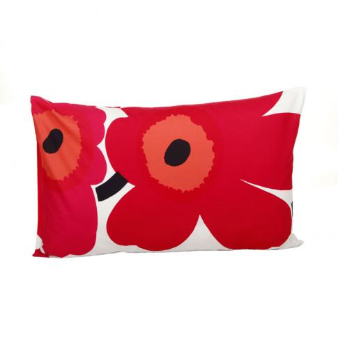 Marimekko - Unikko Pillowcase - Red/White