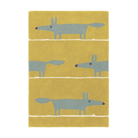 Scion - Mr Fox Rug - Mustard - 120x180cm