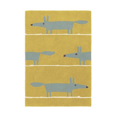 Scion - Mr Fox Rug - Mustard - 90x150cm