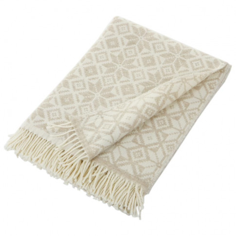 Bronte By Moon - Snowflake Throw - Natural/White