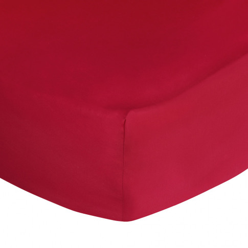 Ralph Lauren Home - Polo Player Fitted Sheet - Red Rose - Double