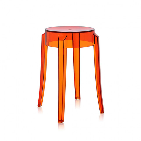 Kartell - Charles Ghost Stool - Orange - 46cm