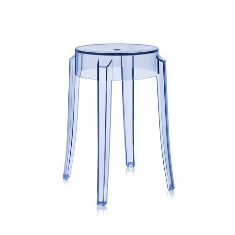 Kartell - Charles Ghost Stool - Light Blue - 46cm