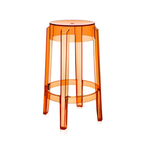 Kartell - Charles Ghost Stool - Orange - 65cm