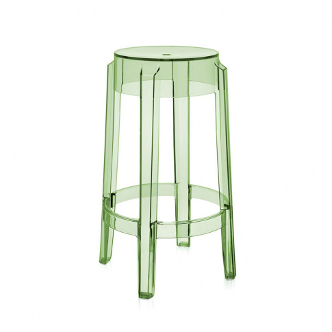 Kartell - Charles Ghost Stool - Green - 65cm