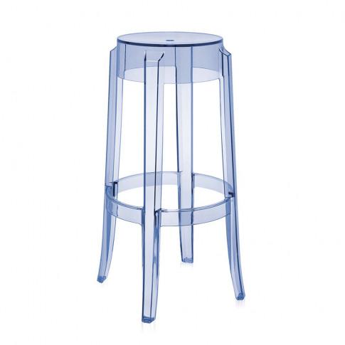 Kartell - Charles Ghost Stool - Light Blue - 75cm
