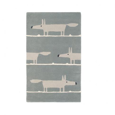 Scion - Mr Fox Rug - Silver - 120x180cm