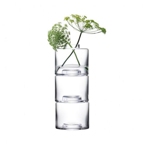 Lsa International - Stack Vase Trio - Clear