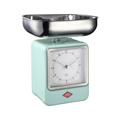 Wesco - Retro Scale With Clock - Mint