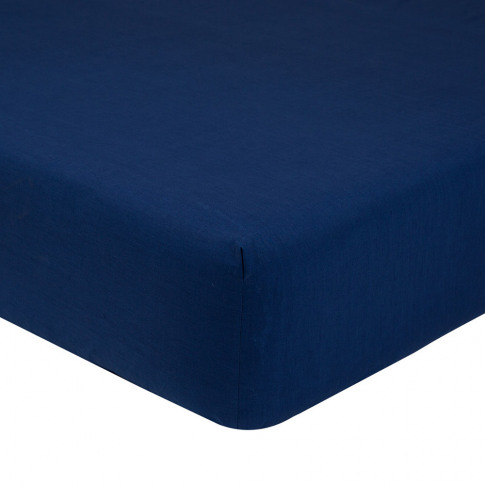 Olivier Desforges - Alcove Fitted Sheet - Navy - King