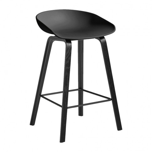 Hay - Oak Stool - Black - Low
