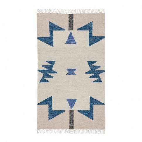 Ferm Living - Kelim Blue Triangles Rug - Small