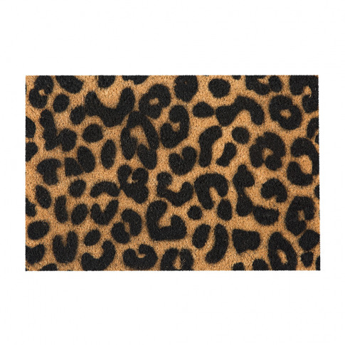 Artsy Doormats - Leopard Door Mat - Black