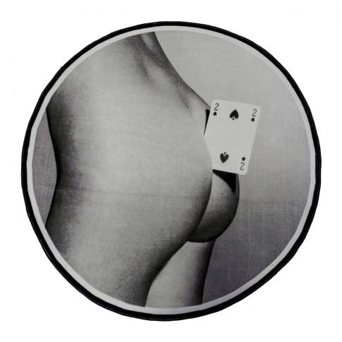 Seletti Wears Toiletpaper - Toiletpaper Round Rug - Two Of Spades