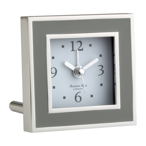 Addison Ross - Square Alarm Clock - Taupe Enamel