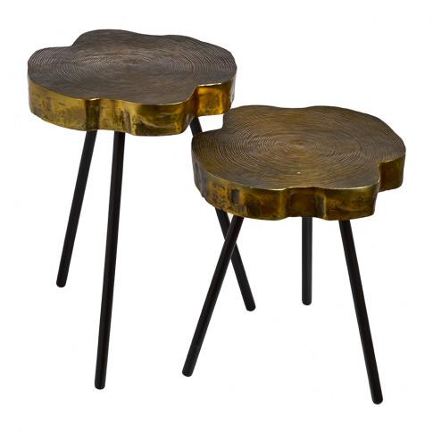 Pols Potten - Tree Slice Side Table - Set Of 2
