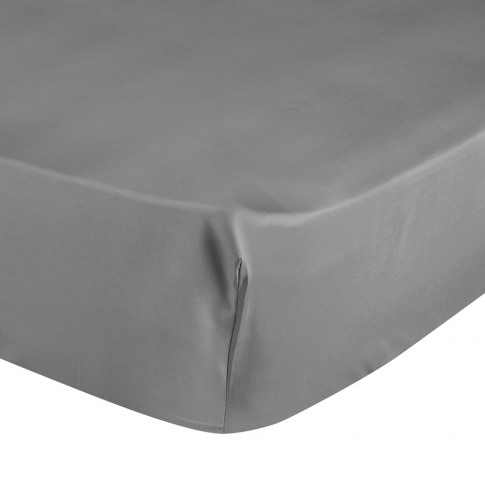 Yves Delorme - Triomphe Sateen Fitted Sheet - Platinum - Super King