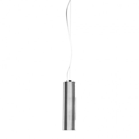 Kartell - Rifly Ceiling Lamp - Chrome - 30cm