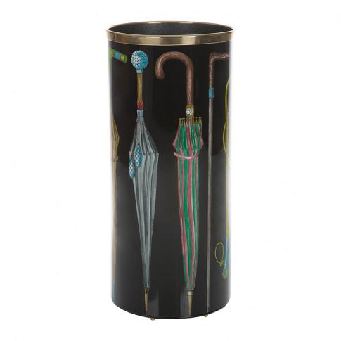 Fornasetti - Ombrelli E Bastoni Umbrella Stand - Black