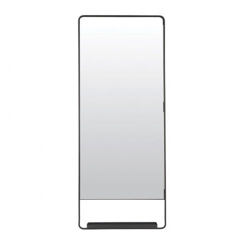 House Doctor - Chic Mirror With Shelf - Black - 45x1...