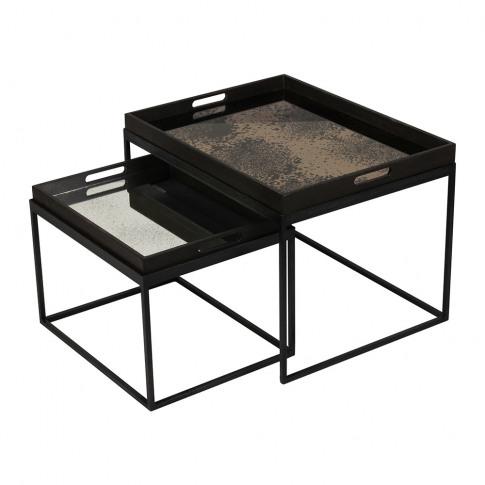 Notre Monde - Rectangular Nesting Tray Table Set