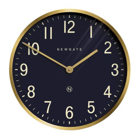 Newgate Clocks - Mr Edwards Wall Clock - Radial Brass