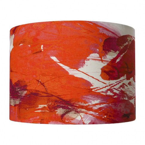Anna Jacobs - Sedum Detail In Orange Lamp Shade - Me...