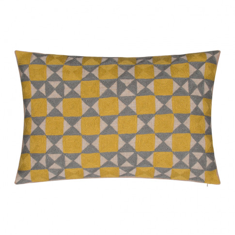Niki Jones - Zellij Cushion - 40x60cm - Ash Grey & C...
