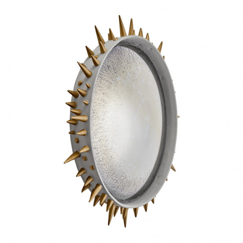 L'Objet - Celestial Convex Mirror - Grey & Gold - Large