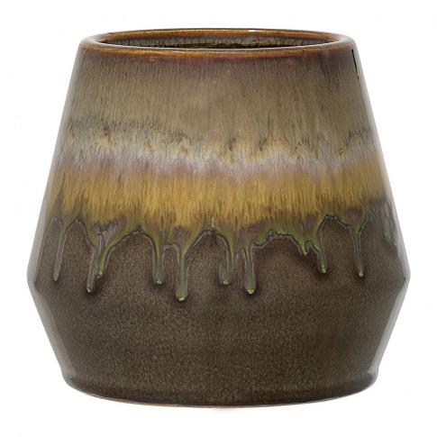 Bloomingville - Green Stoneware Flowerpot