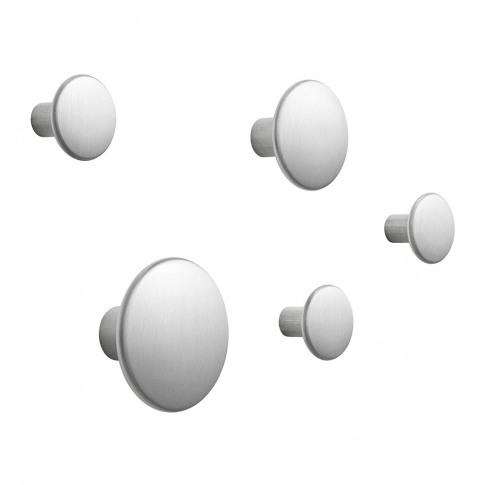 Muuto - The Dots Metal Coat Hooks - Set Of 5 - Alumi...