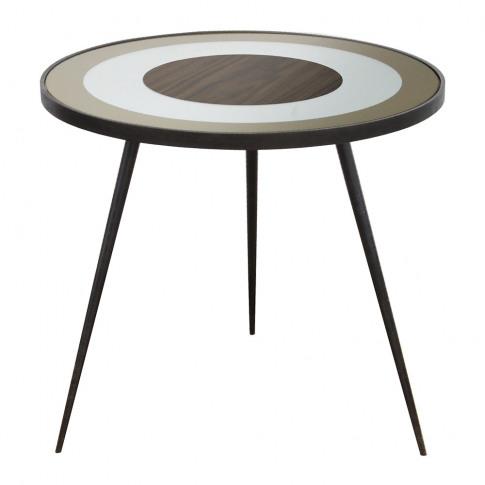Notre Monde - Gold Bullseye Side Table